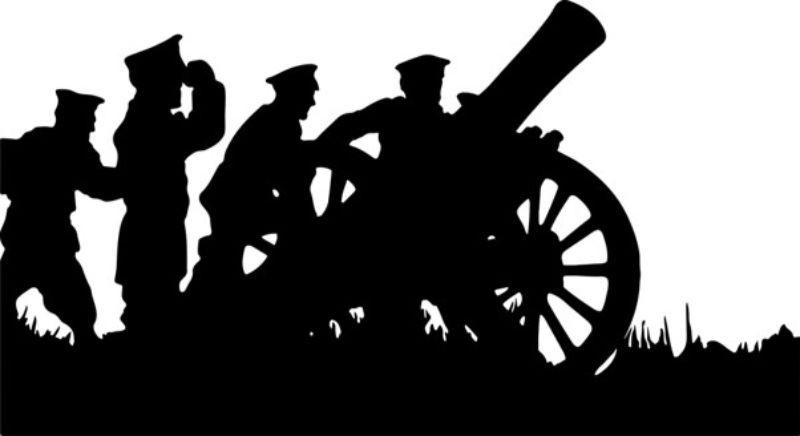 大砲のシルエット