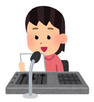女性のアナウンサー