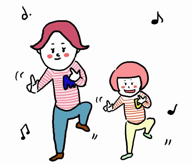 ダンスする親子
