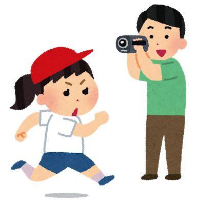 子供の動画を撮るお父さん