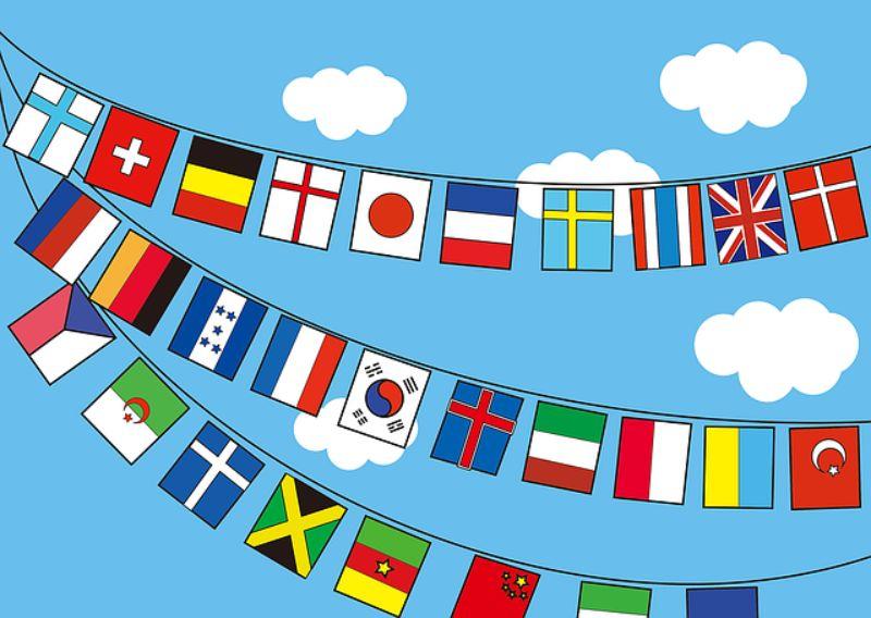 万国旗のイラスト