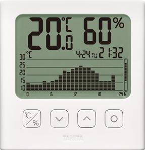 グラフ付きデジタル温湿度計