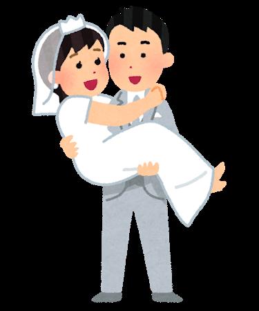結婚式でお姫様抱っこ