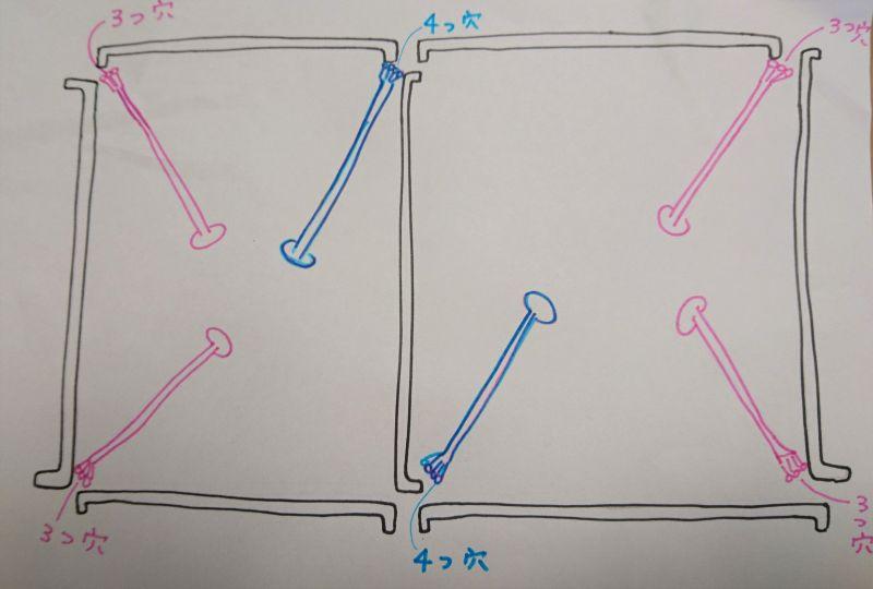テントの立て方図
