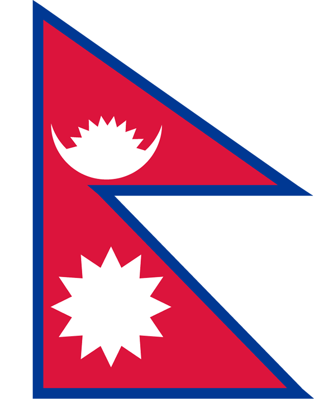 国旗:ネパール