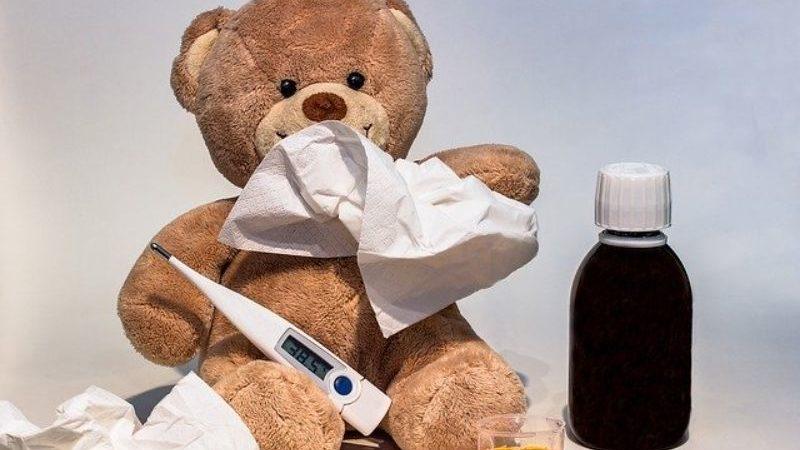病気のクマ