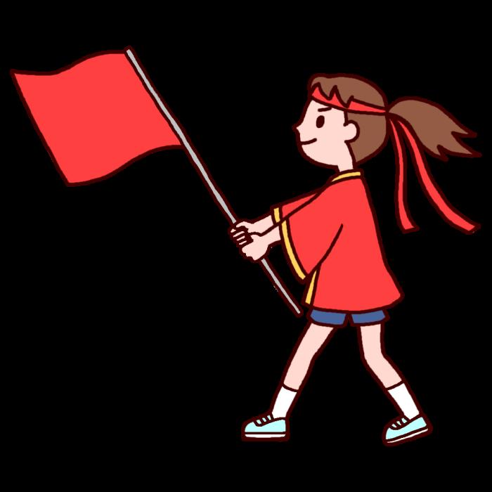 応援団の旗