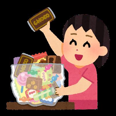たくさんのお菓子